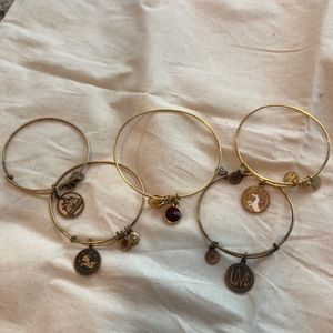 Alex and ani set (5 bracelets)